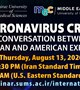 "SUMS and University of Pennsylvania to Hold a Joint International Panel Discussion on  ""Coronavirus Crisis: A Conversation between Iranian and American Experts""  August 13, 2020  18:30 (Iran Standard Time)  10:00 (U.S. Eastern Standard Time)"