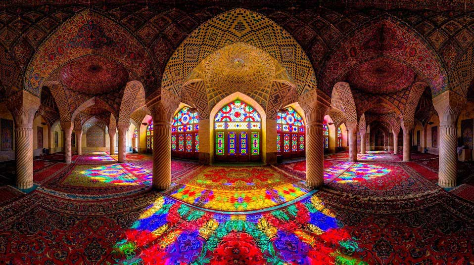 Nasirolmolk Mosque Shiraz-Iran