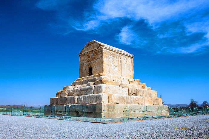 Tomb of Cyrus the Great 90km North East of Shiraz-Iran